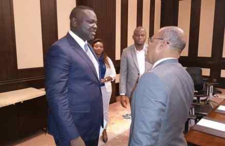 RDC : Augustin Kibassa et les experts égyptiens s'engagent pour la construction du réseau National de Fibre Optique