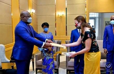 Diplomatie : Tshisekedi reçoit les lettres de créances des ambassadeurs accrédités en RDC