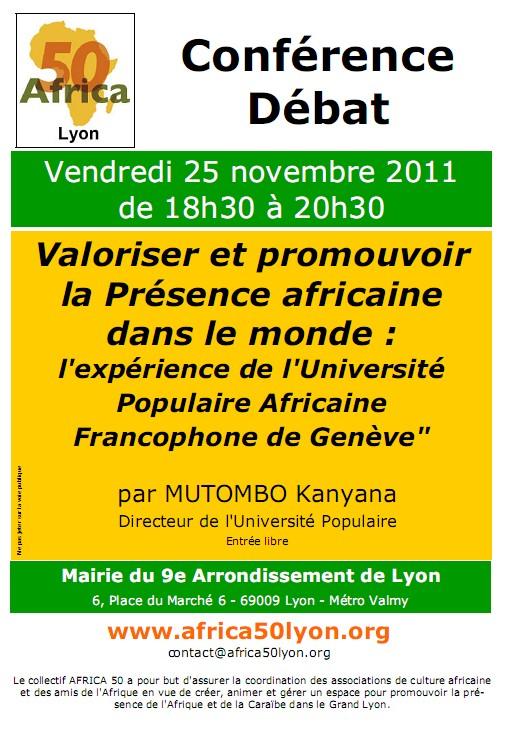 Valoriser et promouvoir la Présence africaine dans le monde