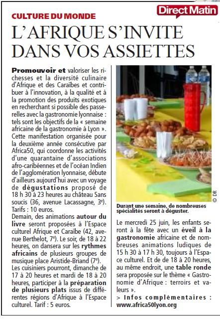 """SAGALY """"L'Afrique s'invite dans vos assiettes"""""""