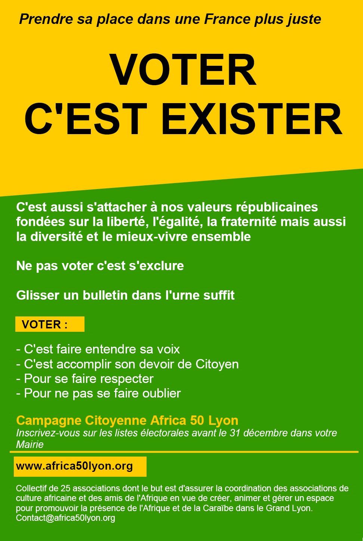 """Élections Présidentielles les 23 avril et 7 mai 2017 """"Voter c'est exister"""""""