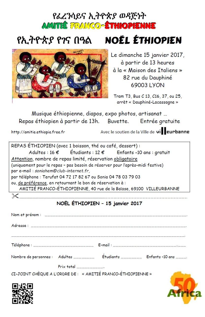 L'Amitié Franco Éthiopienne organise le Noël Éthiopien le dimanche 15 janvier à Lyon