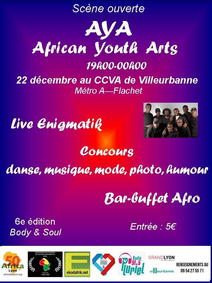 [JEUNESSE] AYA (African Youth Arts) c'est le rendez-vous de la jeunesse, une scène ouverte vendredi 22 décembre au CCVA
