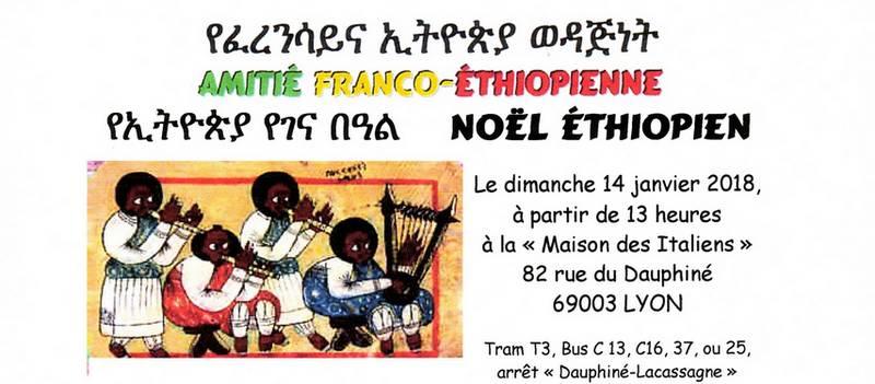 [ETHIOPIE] Noël Ethiopien dimanche 14 janvier 2018 à Lyon avec l'Amitié Franco-Ethiopienne