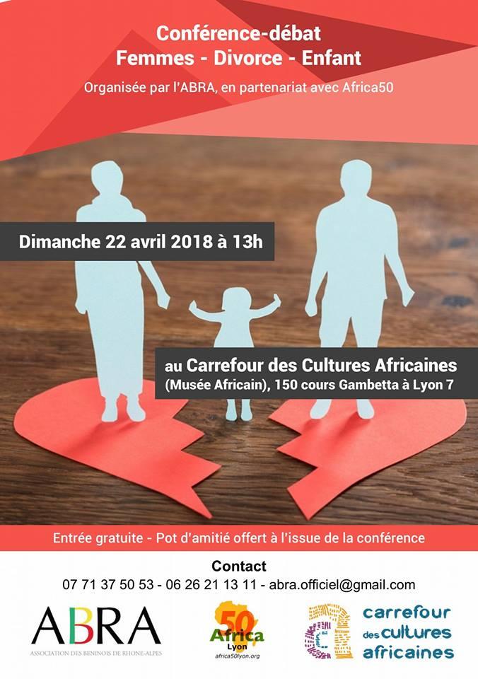 [CONFERENCE] Femmes – Divorce et enfants organisée par l'ABRA Dimanche 22 avril 2018 au CCA Lyone 7e