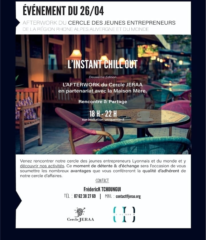 [BUSINESS] Afterwork Networking des Jeunes Entrepreneurs Jeraa