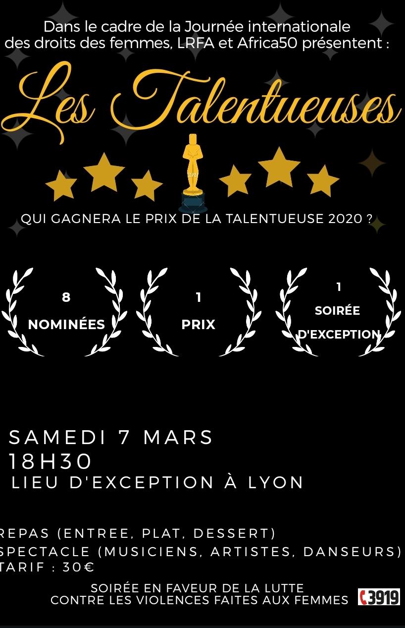 "[RECOMPENSES] Soirée ""La Talentueuse 2020"" samedi 7 mars à Lyon"