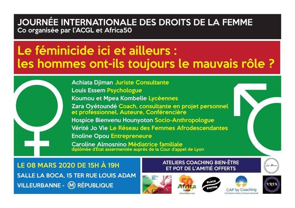[FEMMES] Table-ronde  « Le féminicide ici et ailleurs » dimanche 8 mars 2020 à Villeurbanne