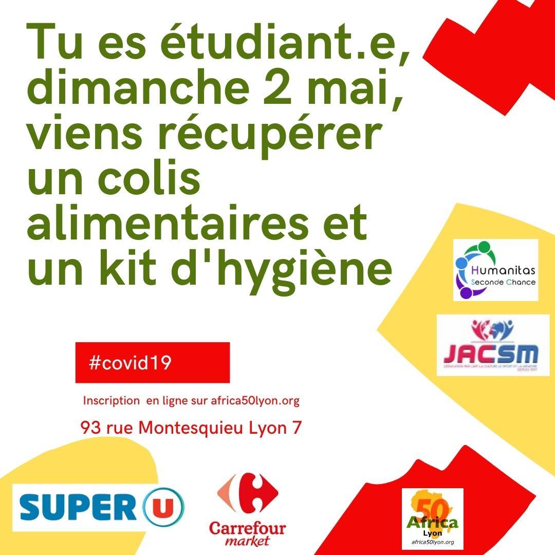 [SOLIDARITE] Tu es étudiant.e, dimanche 2 mai, viens récupérer un colis alimentaires et un kit d'hygiène