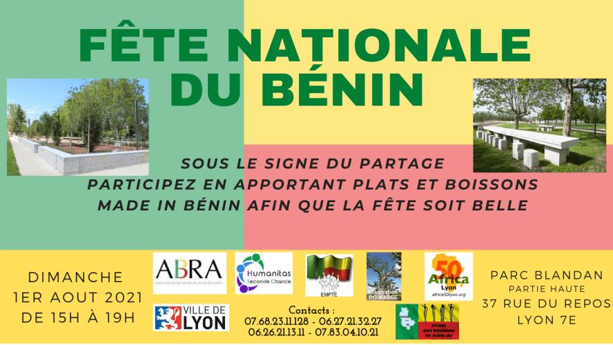 [BENIN] Les associations béninoises organisent la Fête Nationale dimanche 1er aout 2021 à Lyon