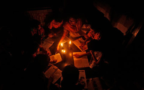 The economy is plagued by frequent blackouts