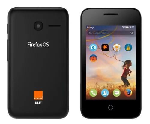 Orange Pixi 3 3G Volcano Black