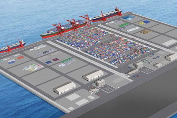 Artist's impression of Lamu Port