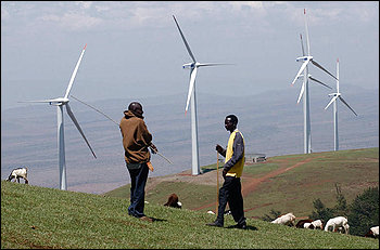Wind farm at Lake Turkana, Kenya