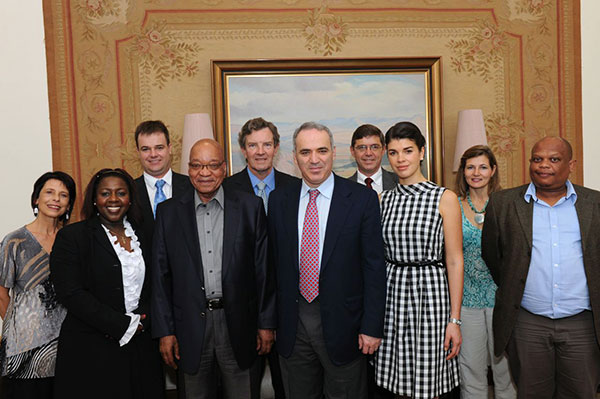 Graham Jurgensen (third from left) seen here with President Jacob Zuma, Garry Kasparov and others
