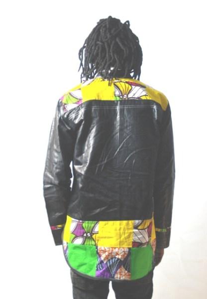 chemise tissus africain vue de dos