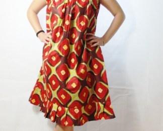 robe rouge rouille africadada