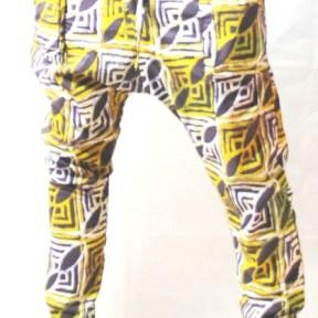 pantalon verte tissus africain