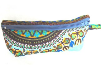 vanity case bleu dada african fabric