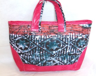 woman hand bag african fabric