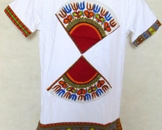 t-shirt blanc papillon africadada