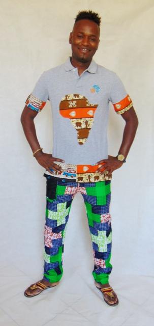 african pants man detail