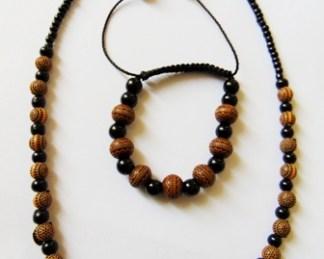 ensemble collier et braceletafricain
