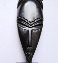 Statuette africaine bois tête femme