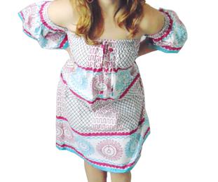 Off shoulder african print dress