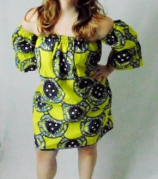 african print mini dress off shoulder