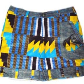 african print pants short