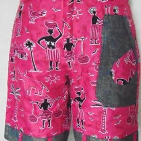 Short femme pagne couleur rose