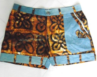 short africain femme bazin et jeans