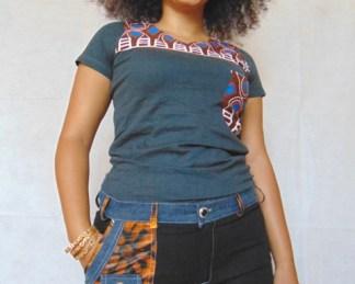 short ete tissu africain femme