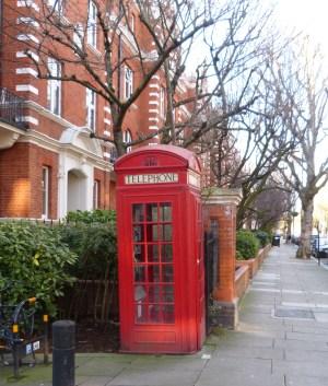 Telephone Box in Maida Vale.