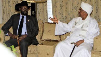 Salva Kiir y Omar Hassan Al Bashir