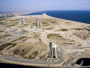 Bird's eye view of Eko Atlantic city