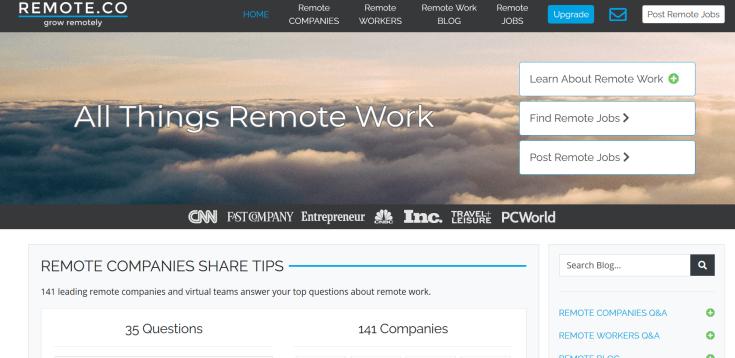 Remote.co Jobs Board