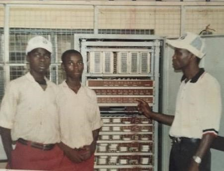From Left to Right, Tes, Dr. Adeolu and Mr. Aina (late)