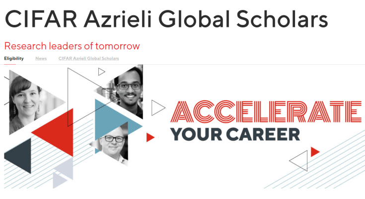 Accelerate Your Career With CIFAR Azrieli Global Scholars Program