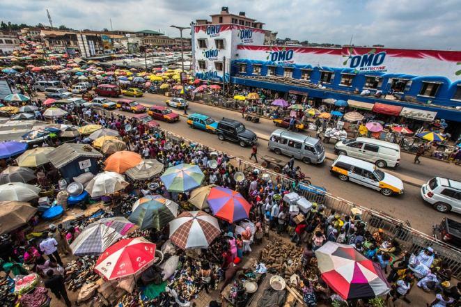 Kumasi Kejetia Ghana market