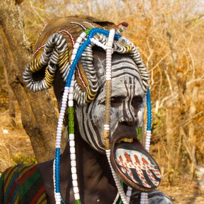 Mursi tribe in Ethiopia