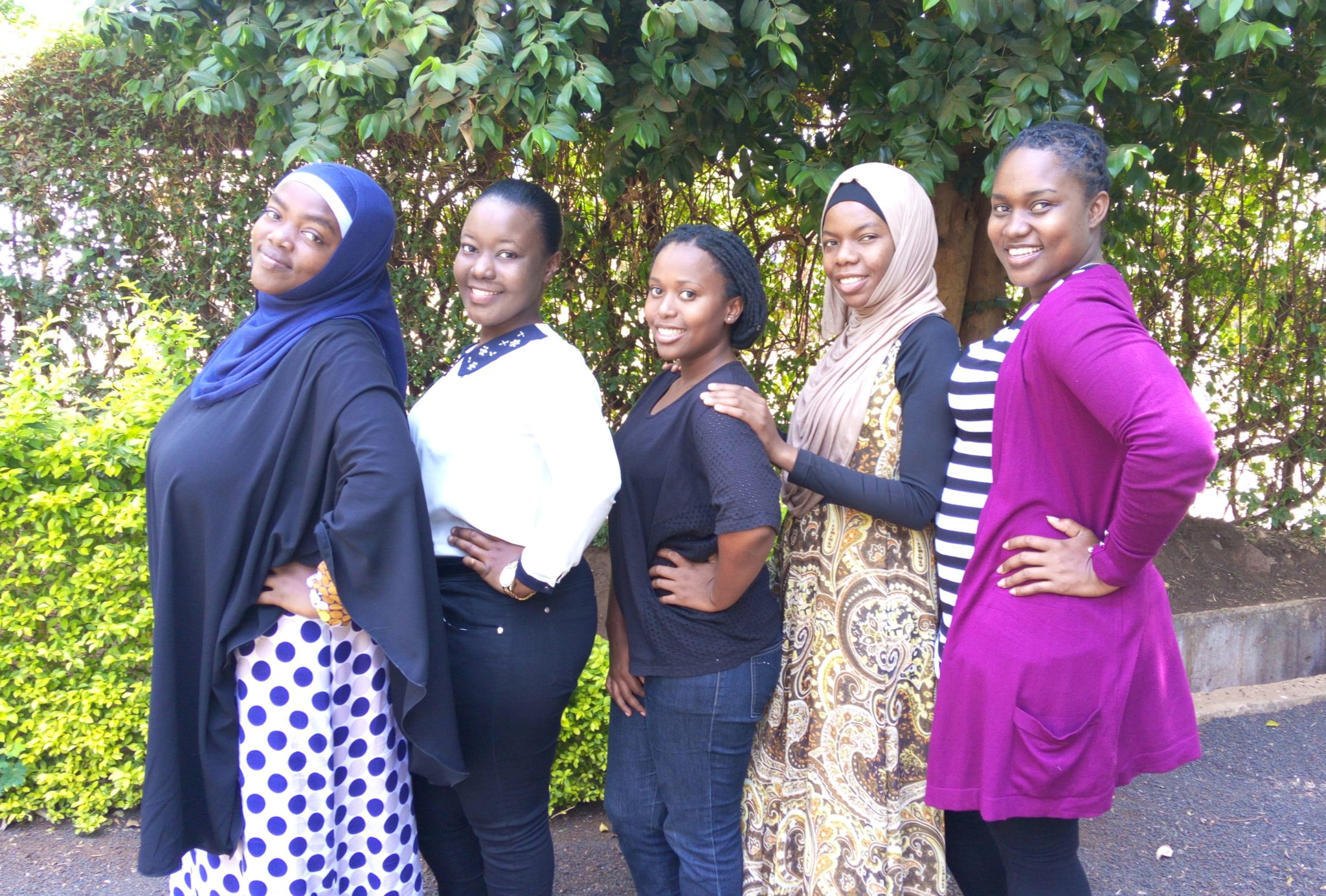 The 2017 Binti Shupavu Team (L-R):  Salma, Irene, Violeth, Asimwe and Theresia