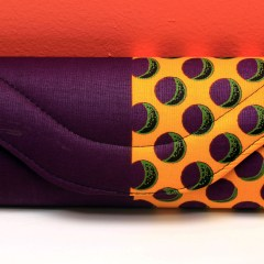 Purple & Yellow African Fabric Small Purse