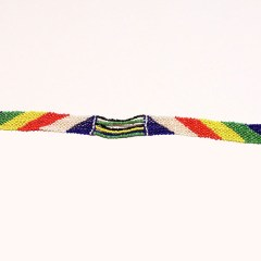 Multicolored 7 African Beaded Necklace