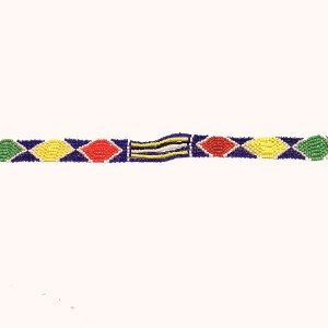 Multicolored 4 African Beaded Necklace
