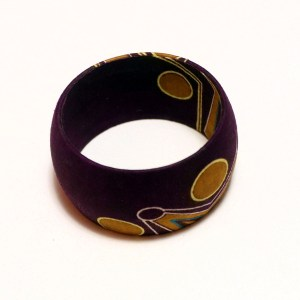 Purple & Gold African Print Bangles