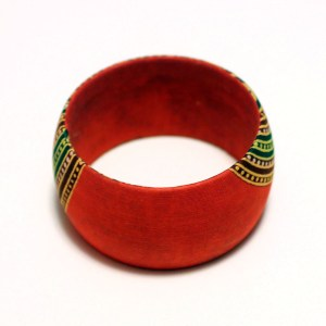 Orange, Yellow & Green African Print Bangles
