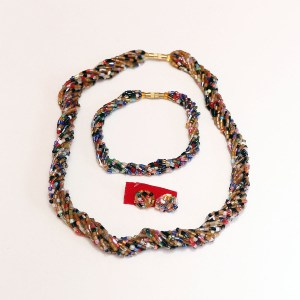 Multicolored 5 African Beaded Necklace Set
