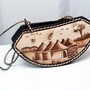 Handmade African Leather Bag - Hut
